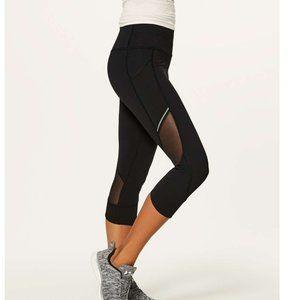 Lululemon Home Stretch Crop Mesh Panel Legging